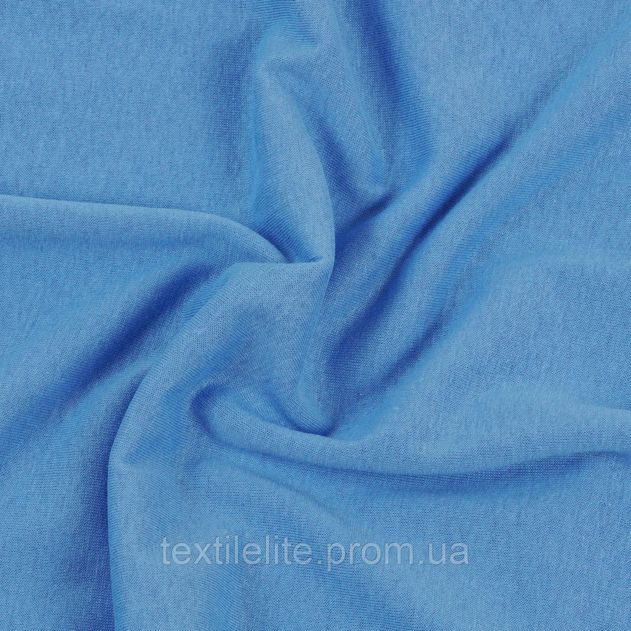 Кулирная гладь оптом, цвет голубой васильковый, 100% хлопок, Турция