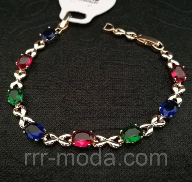 Красивые браслеты с разноцветными камнями. Брендовые браслеты фирмы Huping.