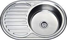 Врезная кухонная мойка из нержавеющей стали Platinum 7750 Сатин 0.6