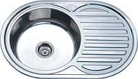 Врезная кухонная мойка из нержавеющей стали Platinum 7750 Полировка 0.6