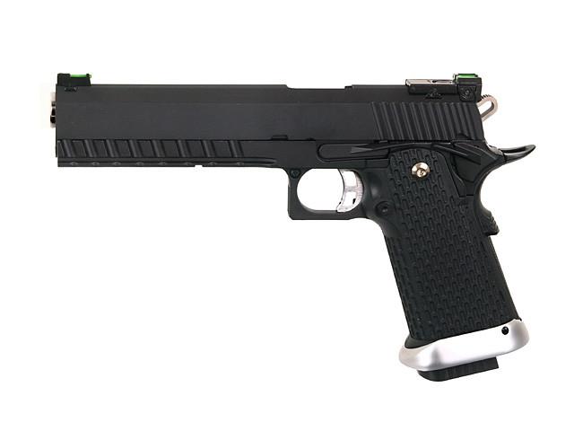 Пистолет Colt M1911 Hi-Capa 6″ GreenGas KP-06 [KJW] (для страйкбола)