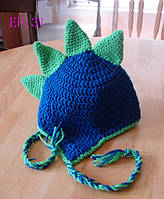 Вязанная шапочка для мальчика 1-2 года, весна, осень