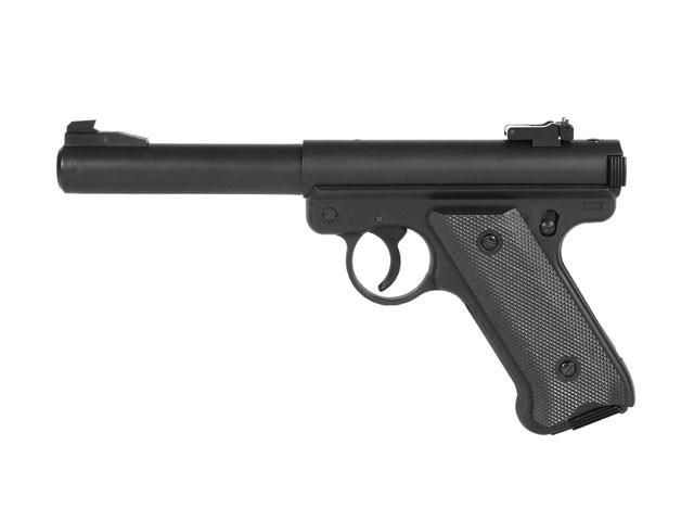 Страйкбольный пистолет Ruger MK1 Black Gas GNB [KJW] (для страйкбола)
