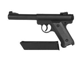 Страйкбольный пистолет Ruger MK1 Black Gas GNB [KJW] (для страйкбола), фото 2