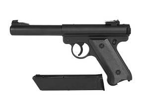 Страйкбольный пистолет Ruger MK1 Black Gas GNB [KJW] (для страйкбола), фото 3