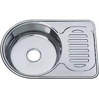 Врезная кухонная мойка из нержавеющей стали Platinum 6745 Декор 0.8