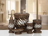 Комплект в ванную Irya - Queen bronz бронзовый (5 предметов)