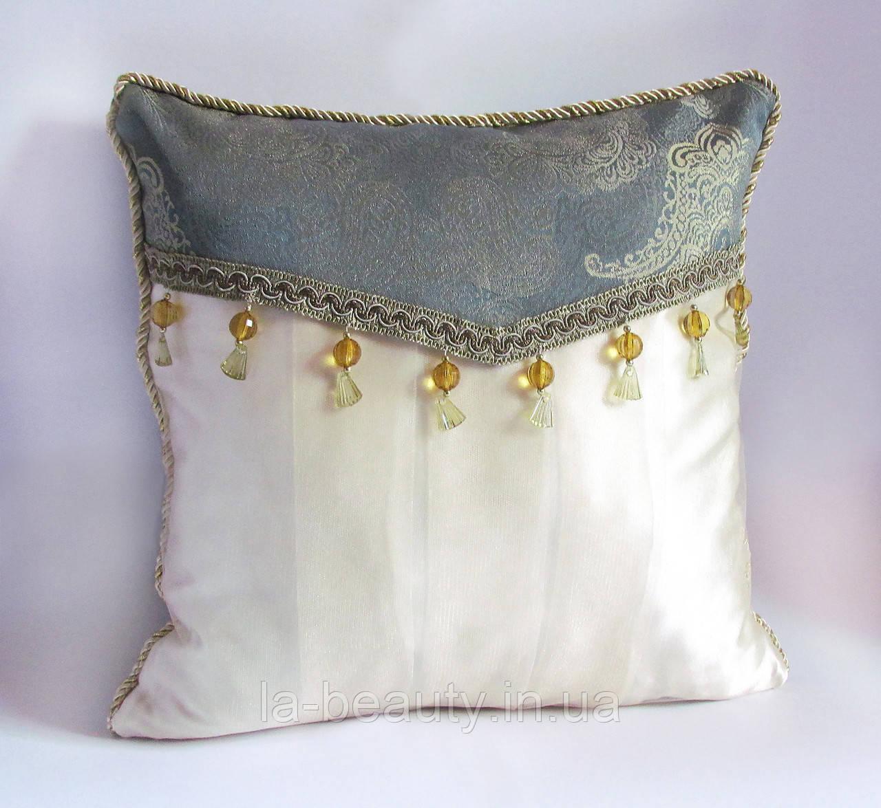 Коллекционная декоративная подушка Золотая мята эксклюзив