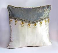 Коллекционная декоративная подушка Золотая мята эксклюзив, фото 1