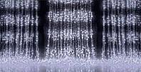 Водопад 2х2 см Гирлянда Штора 300 Led - Дождь на белом прозрачном проводе цвет белый холодный