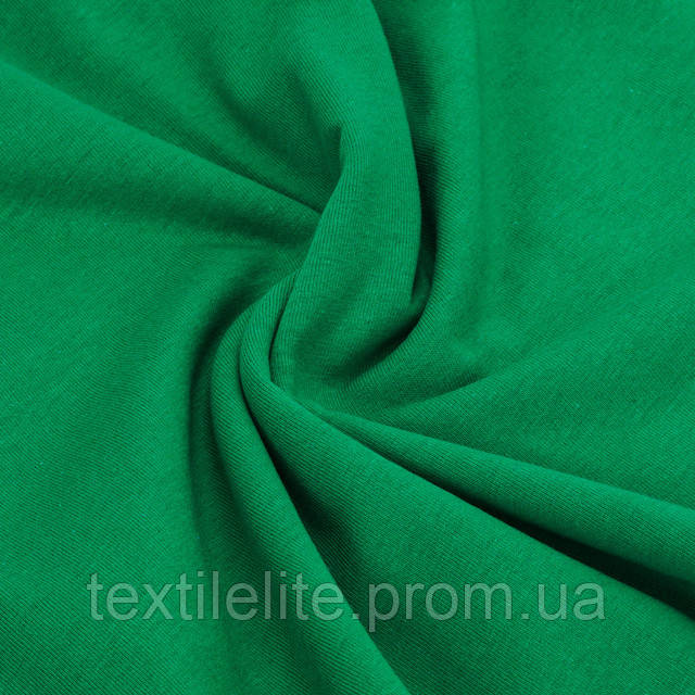 Кулирка трикотажная ткань оптом. Цвет Зеленый. Хлопок 100%