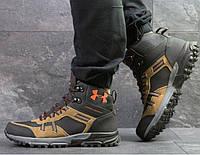 Мужские кроссовки Under Armour, зимние, нубук + замша, черные, Андер Армор, 2018, фото 1