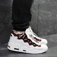 Мужские кроссовки Nike Air Uptempo 96, демисезонные, пресс кожа, белые, Найк Аир, 2018, фото 1
