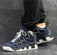 Мужские кроссовки Nike Air Uptempo 96, демисезонные, замша, темно-синие, Найк Аир, 2018, фото 1