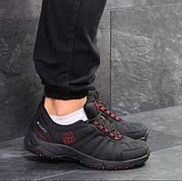 Мужские кроссовки Columbia, демисезонные, термо плащевка, черные, Коламбия, 2018, фото 1