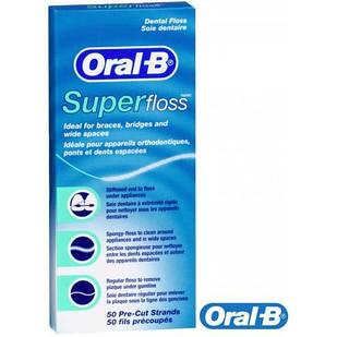 Зубна нитка ORAL-B Super Floss, 50 м