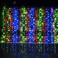 Штора 2х3 м 560 led, цвет разноцветный - декоративная гирлянда на Новый год