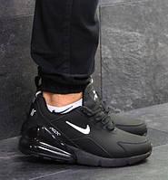 Мужские кроссовки Nike Air Max 270, зимние, кожа нубук, черные, Найк, 2018, фото 1
