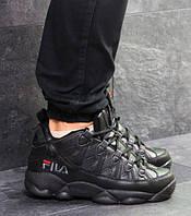 Мужские кроссовки Fila, зимние, пресс кожа, черные, Фила, 2018, фото 1