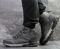 Мужские кроссовки Under Armour, зимние, нубук+замша, серые, Андер Армор, 2018, фото 1