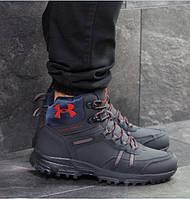 Мужские кроссовки Under Armour, зимние, кожа нубук + замша, темно-синие, Андер Армор, 2018, фото 1