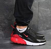 Мужские кроссовки Nike Air Max 270, демисезонные, замша, черные, Найк Аир, 2018, фото 1