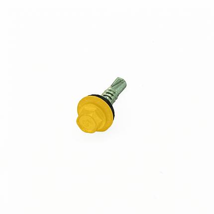 Саморез кровельный по металлу 4,8х19 RAL 1003 (Желтый), фото 2