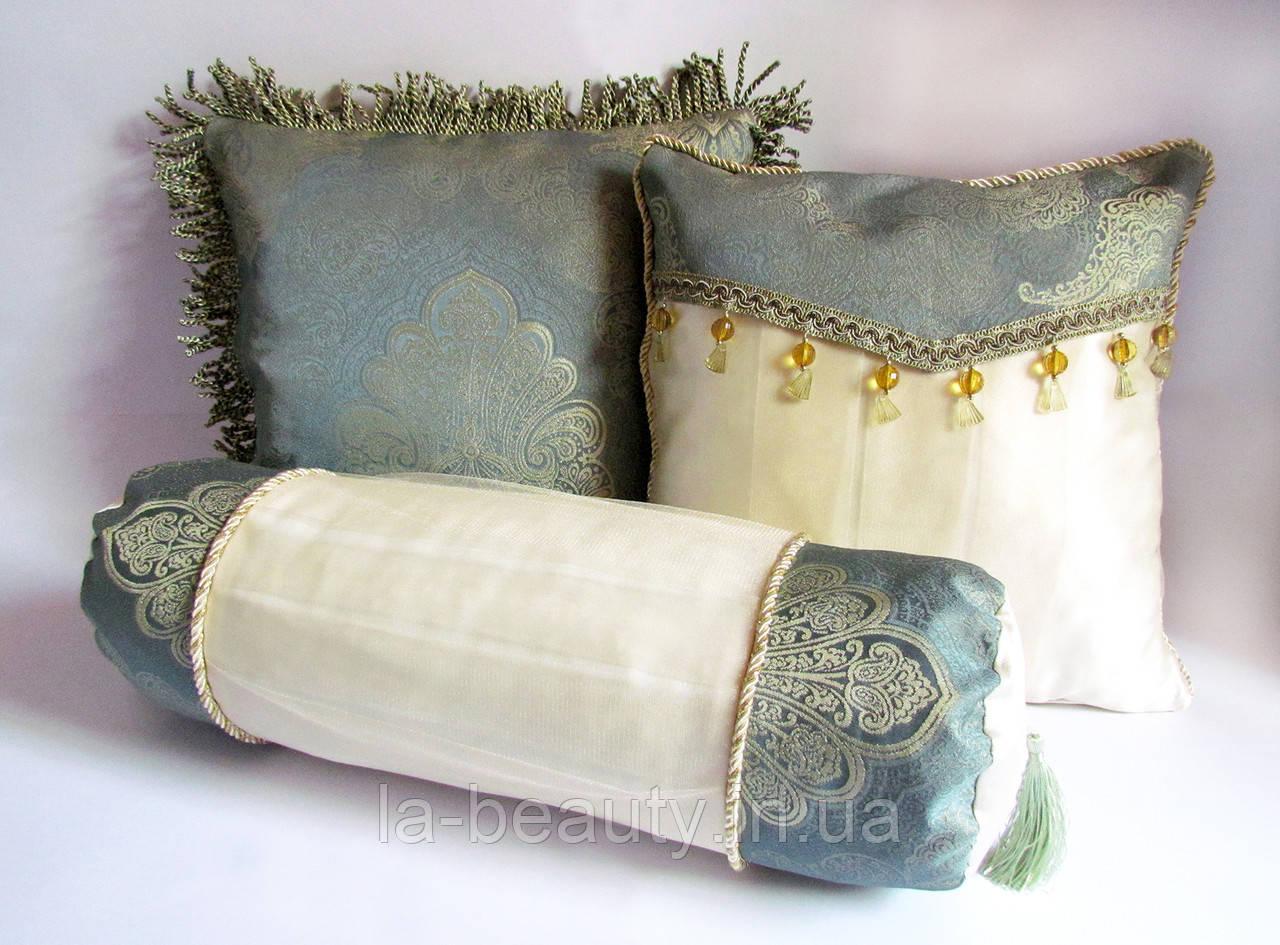 Коллекция (набор) декоративных подушек Золотая мята эксклюзив