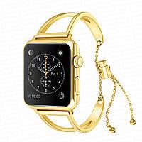 Стальной браслет-украшение золото для часов Apple Watch 42 мм