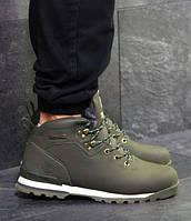 Мужские ботинки зимние Timberland, нубук, внутри мех, темно-зеленые, Тимберленд 2018, фото 1
