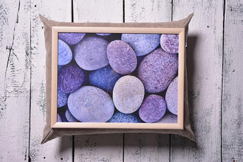 Поднос с подушкой Космические камни