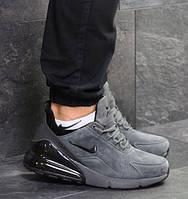 Мужские кроссовки Nike Air Max 270, зимние, замша, серые, Найк, 2018, фото 1