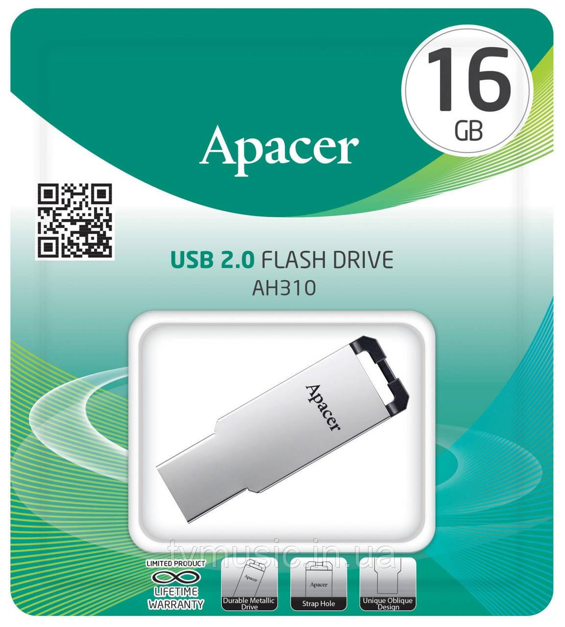 USB флешка Apacer AH310 16GB Metal Silver (AP16GAH310S-1)
