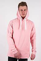 Худи мужской розовый Dark Side с капюшоном, фото 1