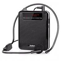 Профессиональный усилитель звука Rolton K300 FM радио + MP3 плеер + мощный power bank, 5W