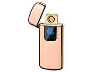 Запальничка USB Touch ID електроімпульсна  Золотий