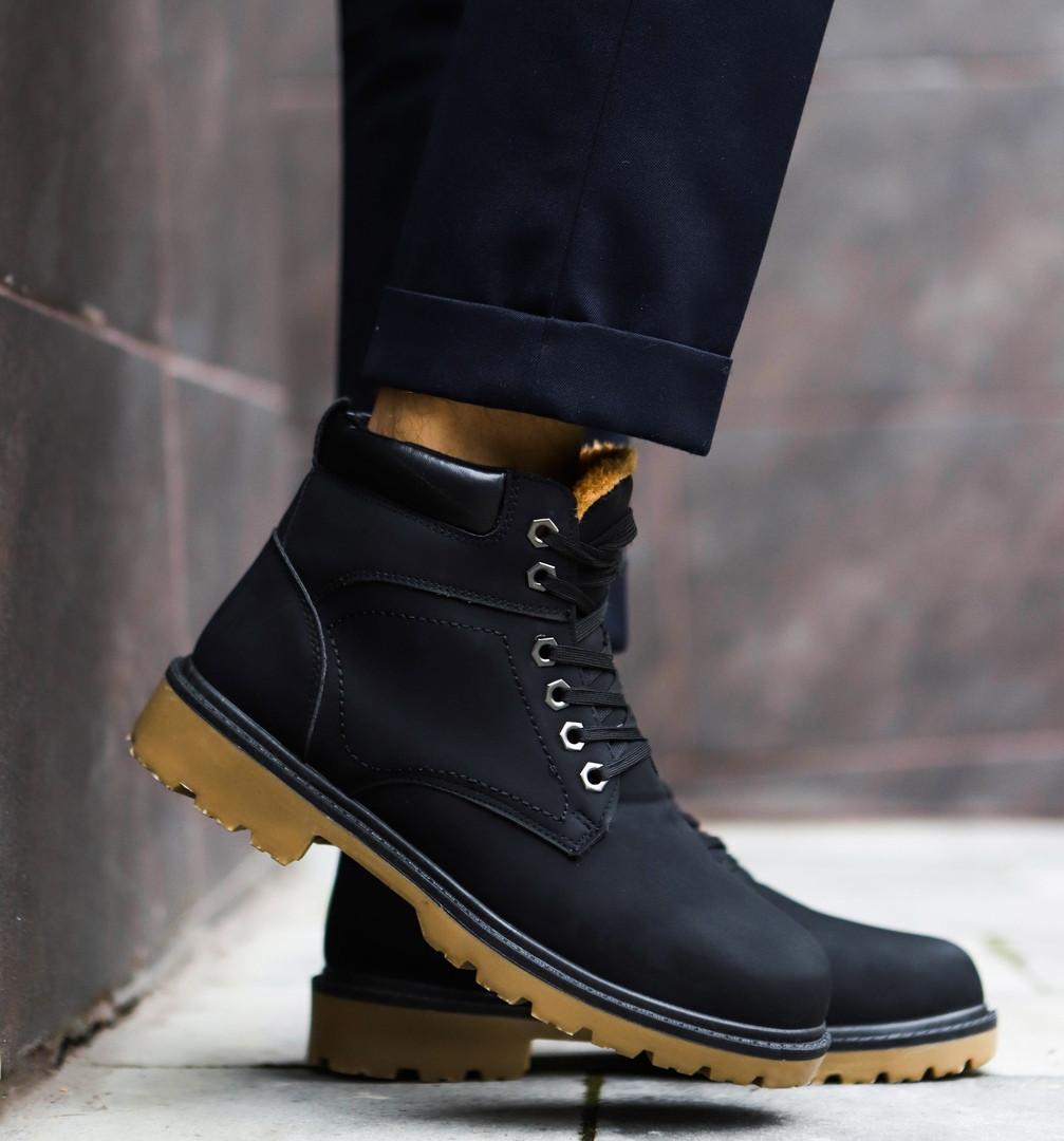 Мужские зимние кроссовки в стиле Timberland (black)