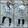 Женская зимняя металлизированная куртка в больших размерах 10BR1153