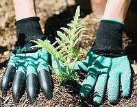 Садовые резиновые перчатки с когтями S-20052