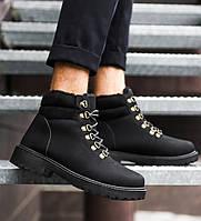 Мужские зимние кроссовки в стиле Timberland (black), фото 1