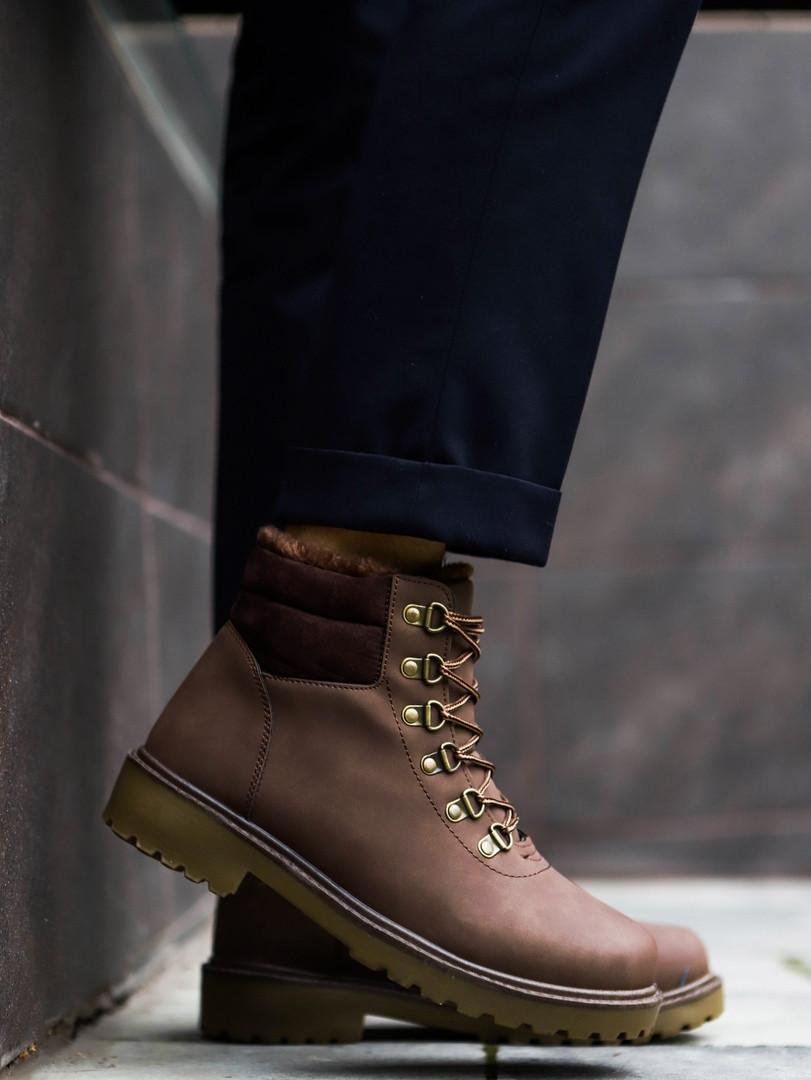 Мужские зимние кроссовки в стиле Timberland (brown), коричневые ботинки