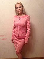 Костюм нежно-розовый , двойка, фото 1