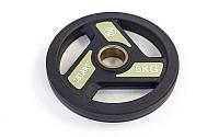 Блины (диски) полиуретановые с хватом d-51мм 5кг