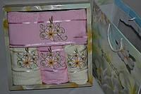 Комплект махровых полотенец 4шт