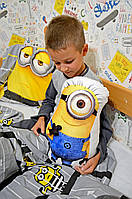 """Декоративная игрушка подушка для мальчиков """"миньон"""" Family look"""