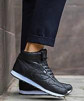 Мужские черные зимние кроссовки в стиле Reebok, кроссовки в стиле рибок , фото 1