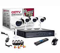 Комплект видеонаблюдения на 4 уличных камеры