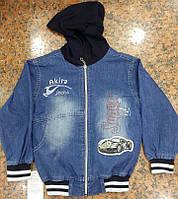Куртка джинсовая с капюшоном от 4до 6 лет