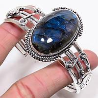 """Жесткий браслет с лабрадором """"Синева""""от студии  www.LadyStyle.Biz, фото 1"""