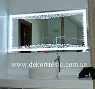 Услуги изготовления декоративные зеркал с подсветкой